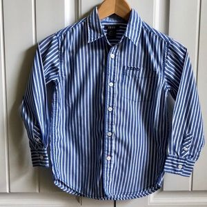 3/$24 IZOD Stripe Boy's Button Up Shirt 6/7 EUC